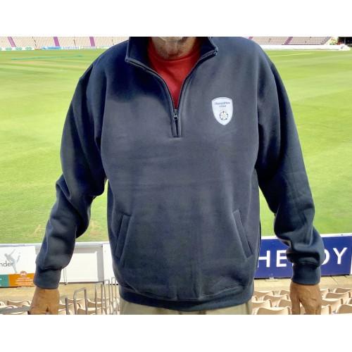 Grey Quarter Zip Sweatshirt