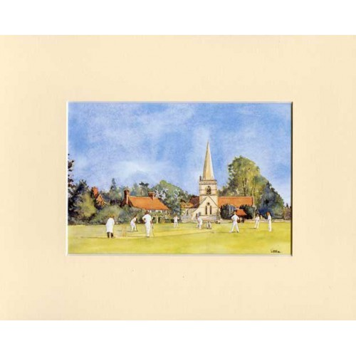 Village Cricket Print