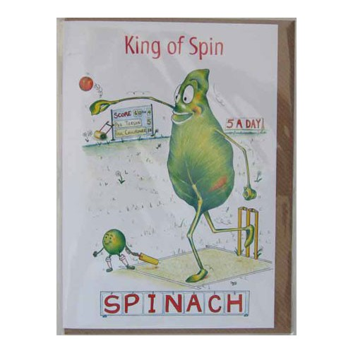 King of Spinach Card